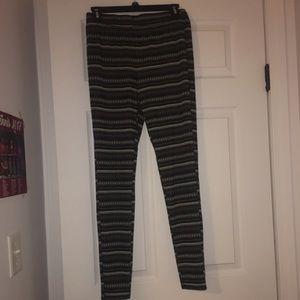 Tribal pattern, thick leggings